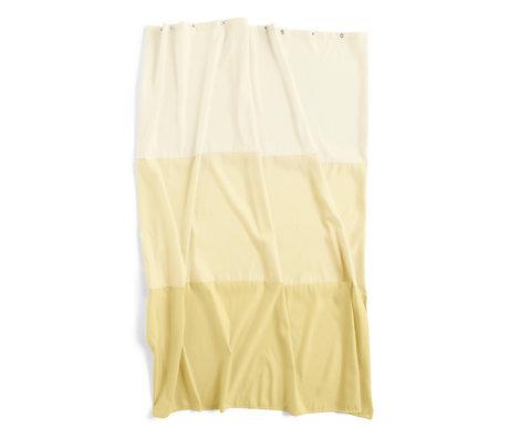 HAY Douchegordijn Aquarelle Horizontal geel polyester 200x180cm