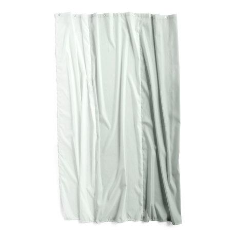 HAY Douchegordijn Aquarelle Vertical mintgroen polyester 200x180cm