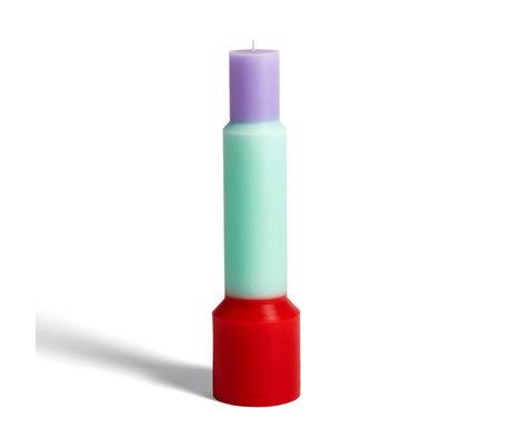 HAY Kerzensäule XL rotes Wachs Ø9x35cm