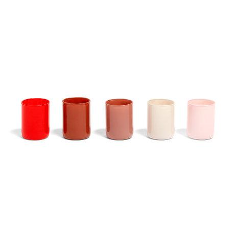 HAY Teelichthalter Spot Votive rotes Glas 5er-Set Ø5x6,5cm