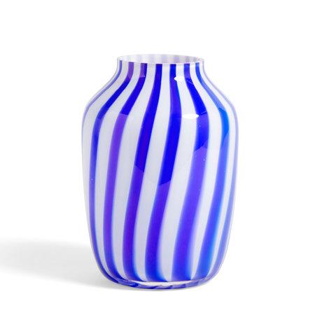 HAY Vaas Juice blauw glas Ø20x28cm