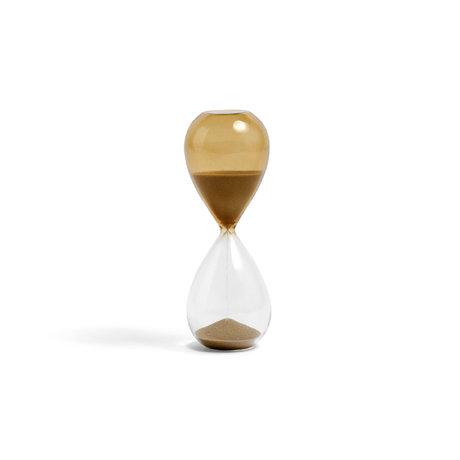 HAY Zandloper Time 15min goud glas ¯5,5x14,5cm