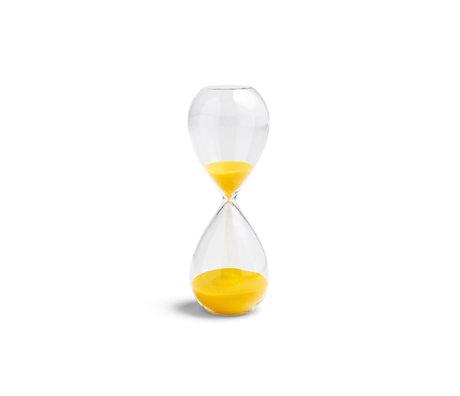HAY Zandloper Time 15min geel transparant glas Ø5,5x14,5cm