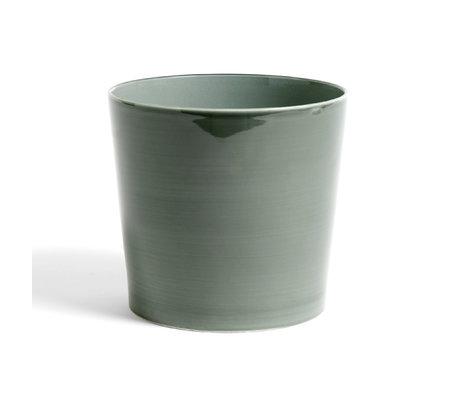 HAY Bloempot Botanical XL groen keramiek ¯22x20cm