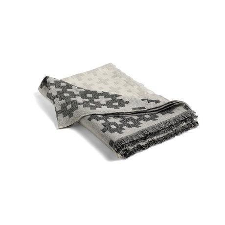 HAY Plaid Plus 9 grijs wol 215x145cm