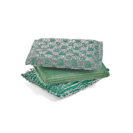 HAY Spons Glitter groen schuim set van 3 13,5x9,5cm
