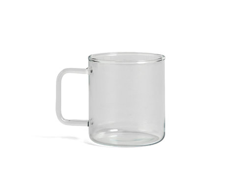 HAY Mok Glass Coffee 400ml transparant glas Ø8x9cm