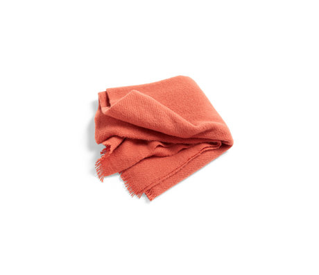 HAY Plaid Mono oranje wol 180x130cm