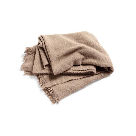 HAY Jeté Mono laine marron clair 180x130cm