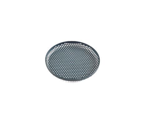 HAY Dienblad Perforated Tray S donkergroen aluminium ¯20x2cm
