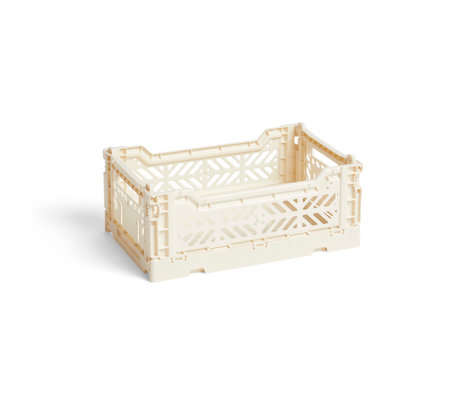 HAY Krat Colour Crate S crme kunststof 26,5x17x10,5cm