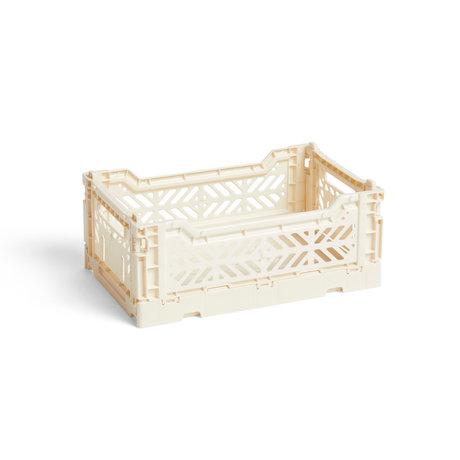 HAY Krat Colour Crate S crème kunststof 26,5x17x10,5cm