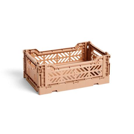 HAY Krat Colour Crate S bruin kunststof 26,5x17x10,5cm
