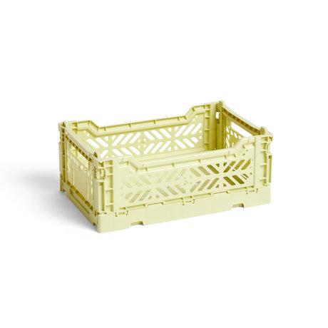 HAY Krat Colour Crate S lichtgroen kunststof 26,5x17x10,5cm
