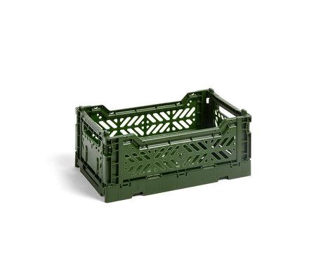 HAY Krat Colour Crate S donkergroen kunststof 26,5x17x10,5cm