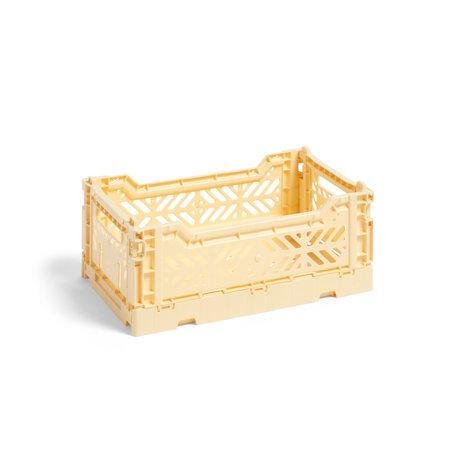 HAY Krat Colour Crate S lichtgeel kunststof 26,5x17x10,5cm