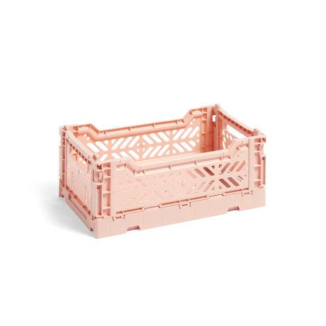 HAY Krat Colour Crate S lichtroze kunststof 26,5x17x10,5cm