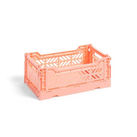 HAY Krat Colour Crate S roze kunststof 26,5x17x10,5cm