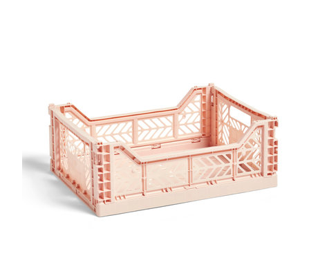HAY Krat Colour Crate M lichtroze kunststof 40x30x14,5cm