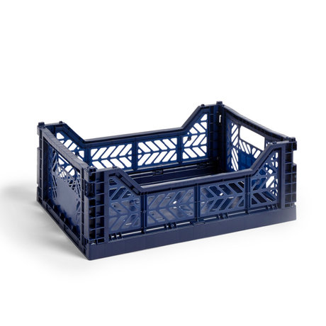 HAY Krat Colour Crate M donkerblauw kunststof 40x30x14,5cm