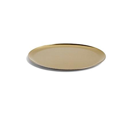 HAY Dienblad Serving Tray goud staal ¯28cm