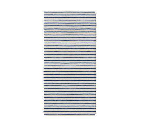 Snurk Beddengoed Bettwäsche Spannbetttuch Breton Bonsoir blau Textil 70x140cm