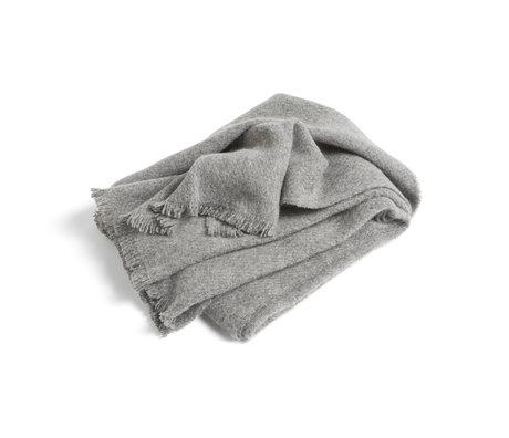 HAY Plaid Mono grijs wol 180x130cm