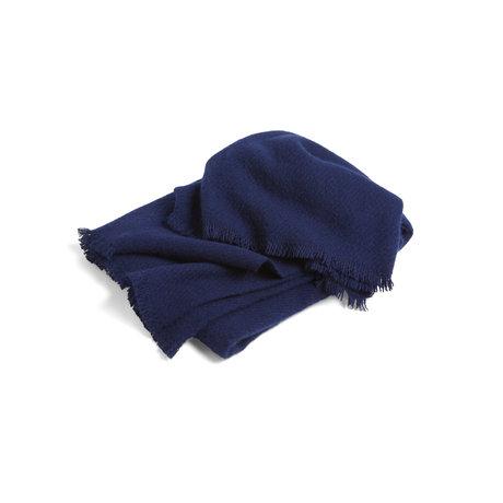 HAY Plaid Mono donkerblauw wol 180x130cm