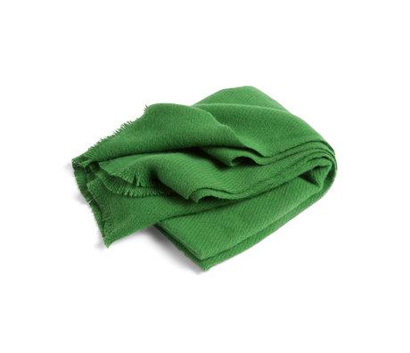 HAY Plaid Mono groen wol 180x130cm