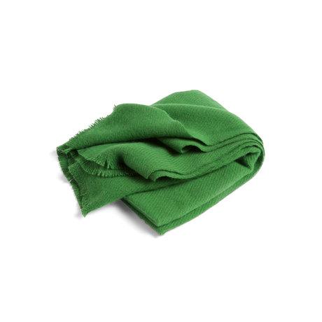 HAY Plaid Mono green wool 180x130cm