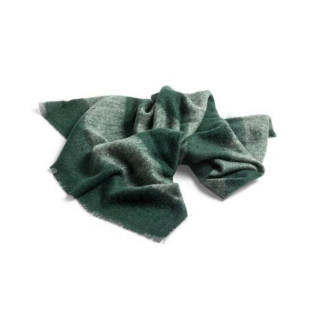 HAY Plaid Mohair groen wol 180x120cm