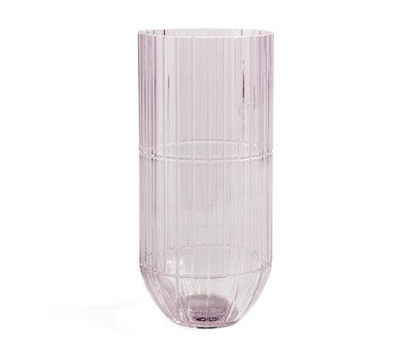 HAY Vaas Colour XL roze glas Ø13x27,5cm