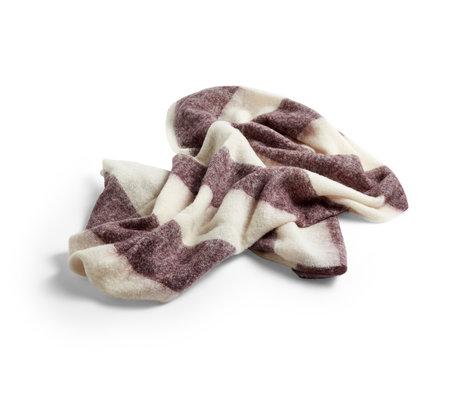 HAY Karierte Mohair braune Wolle 180x120cm