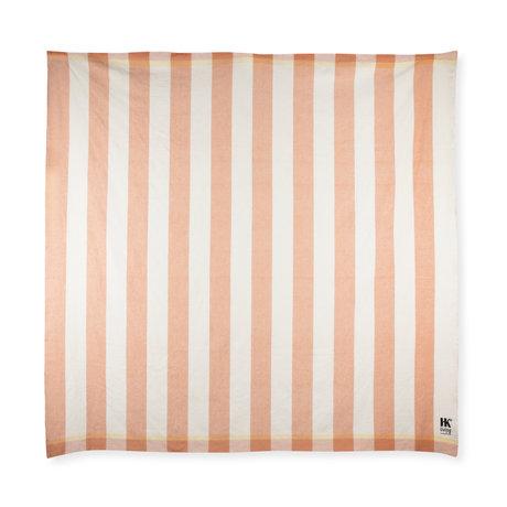 HK-living Suites Special: Strand deken HKLiving perzik wit katoen 200x200cm