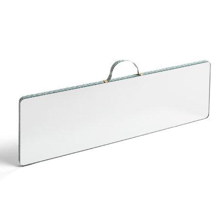 HAY Spiegel Ruban Rectangular L Stripe groen glas kunststof 43,5x13,5cm