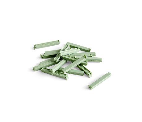 HAY Vershoudklem Paquet groen kunststof set van 18 11 cm