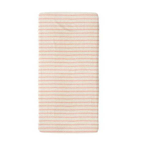 Snurk Beddengoed Beddengoed hoeslaken Breton Bonsoir  roze textiel 60x120cm