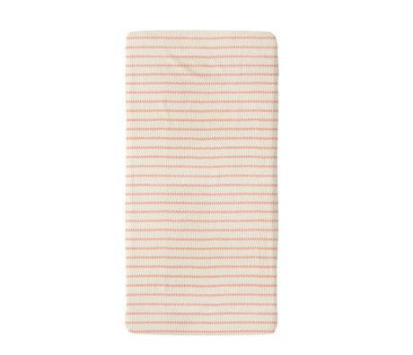 Snurk Beddengoed Beddengoed hoeslaken Breton Bonsoir roze textiel 70x140cm