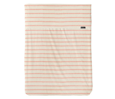 Snurk Beddengoed Beddengoed dekbedovertrek Breton Bonsoir roze textiel 120x150cm