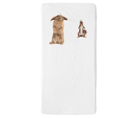 Snurk Beddengoed Beddengoed hoeslaken Furry Friends multicolour textiel 70x140cm