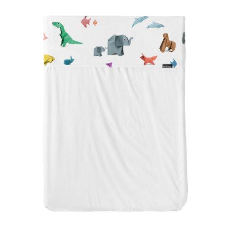 Snurk Beddengoed Beddengoed dekbedovertrek Paper Zoo multicolour textiel 120x150cm