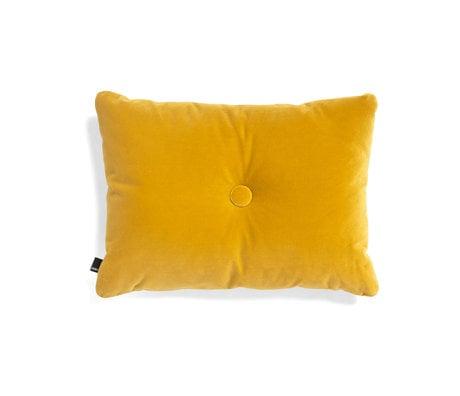 HAY Throw pillow Dot Soft yellow textile 60x45cm