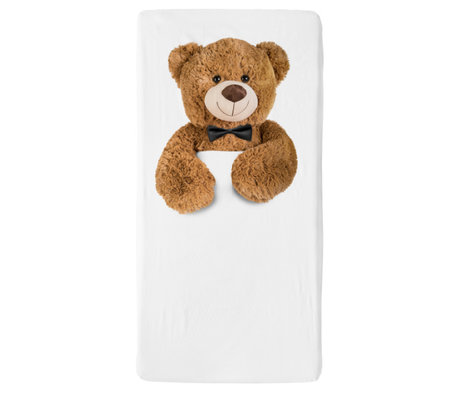 Snurk Beddengoed Beddengoed hoeslaken Teddy multicolour textiel 70x140cm