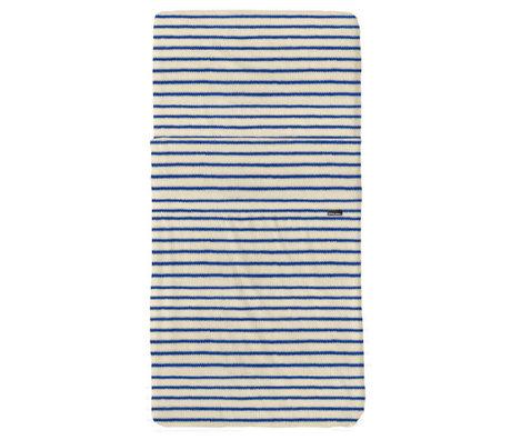 Snurk Beddengoed Beddengoed set Breton Bonsoir blauw textiel 70x140cm + 120x150cm