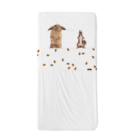 Snurk Beddengoed Beddengoed set Furry Friends multicolour textiel 60x120cm + 120x150cm