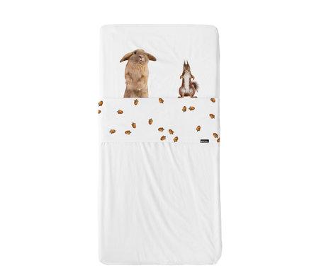 Snurk Beddengoed Beddengoed set Furry Friends multicolour textiel 70x140cm + 120x150cm