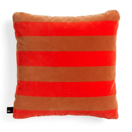 HAY Sierkussen Soft Stripe rood textiel 50x50cm