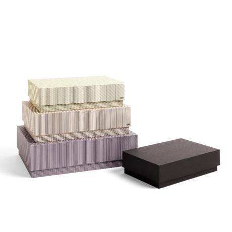 HAY Opbergbox Box beige grijs karton set van 4 32x29x9cm