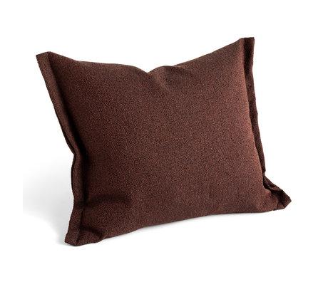 HAY Kissen Plica Burgunder Textil 60x55cm bestreuen
