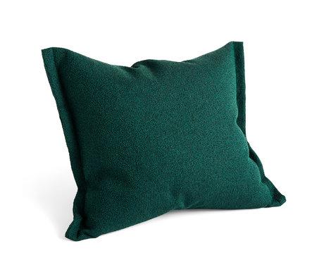 HAY Kussen Plica Sprinkle donkergroen textiel 60x55cm